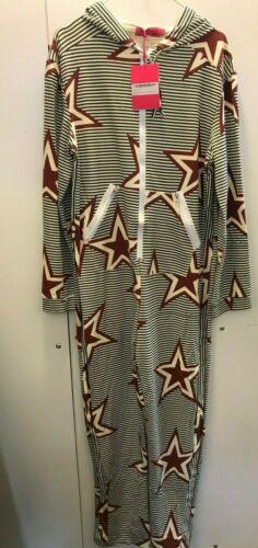 boo13 BOOHOO Becky Stars and Stripes Loopback Jumpsuit O.nesie UK 10 US 6 EUR