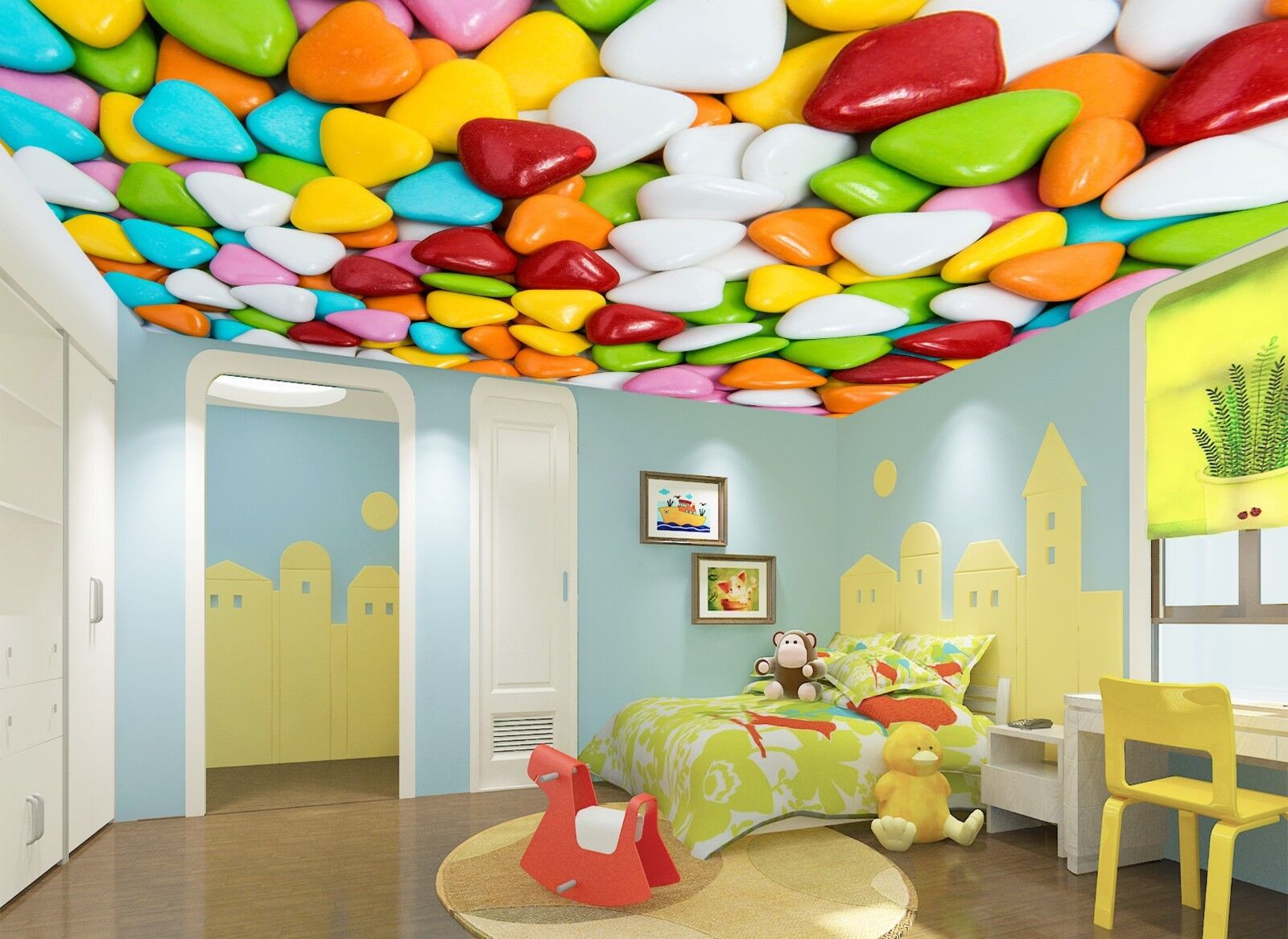3D Rainbow Sugar 74 Wall Paper Wall Print Decal Wall Deco AJ WALLPAPER Summer
