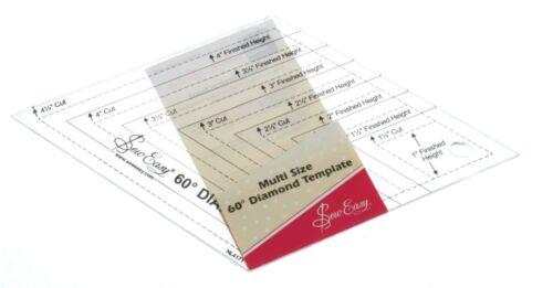 Sew Easy Multi Tamaño 60 ˚ Diamante NL4171 regla de plantilla