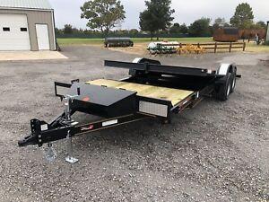 Trailer-Sure-Tilt-Powder-Coated-Heavy-Equipment-Flatbed-Utility