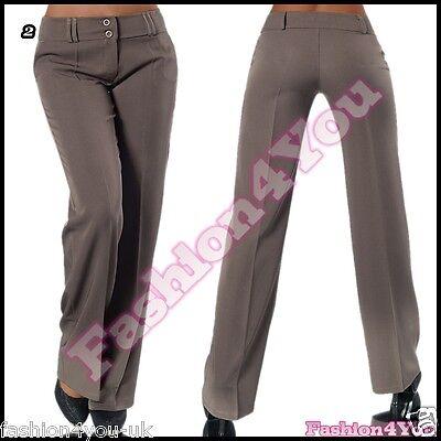 Women S Trousers Casual Las Office Pants Straight Leg Size Xs Uk 6 Eu 34 New