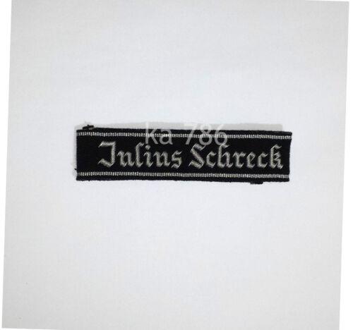 WW2 GERMAN ARMY JULIUS SCHRECK CUFF TITLE REPRO