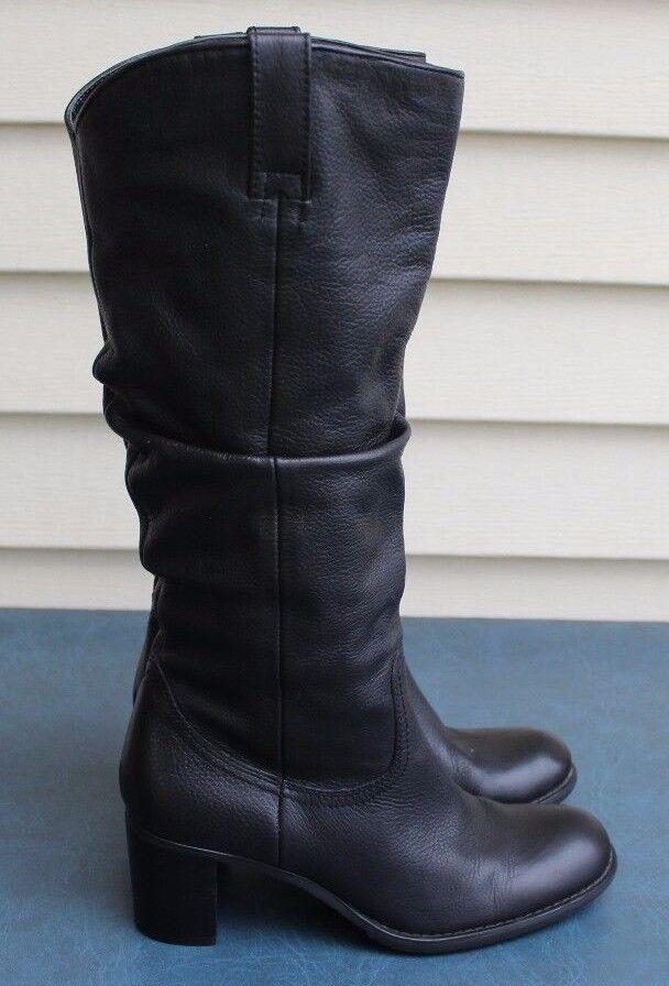 3df64a6c572 Liz Claiborne Sz Musket Flex Flex Liz Comfort Black Leather Knee ...