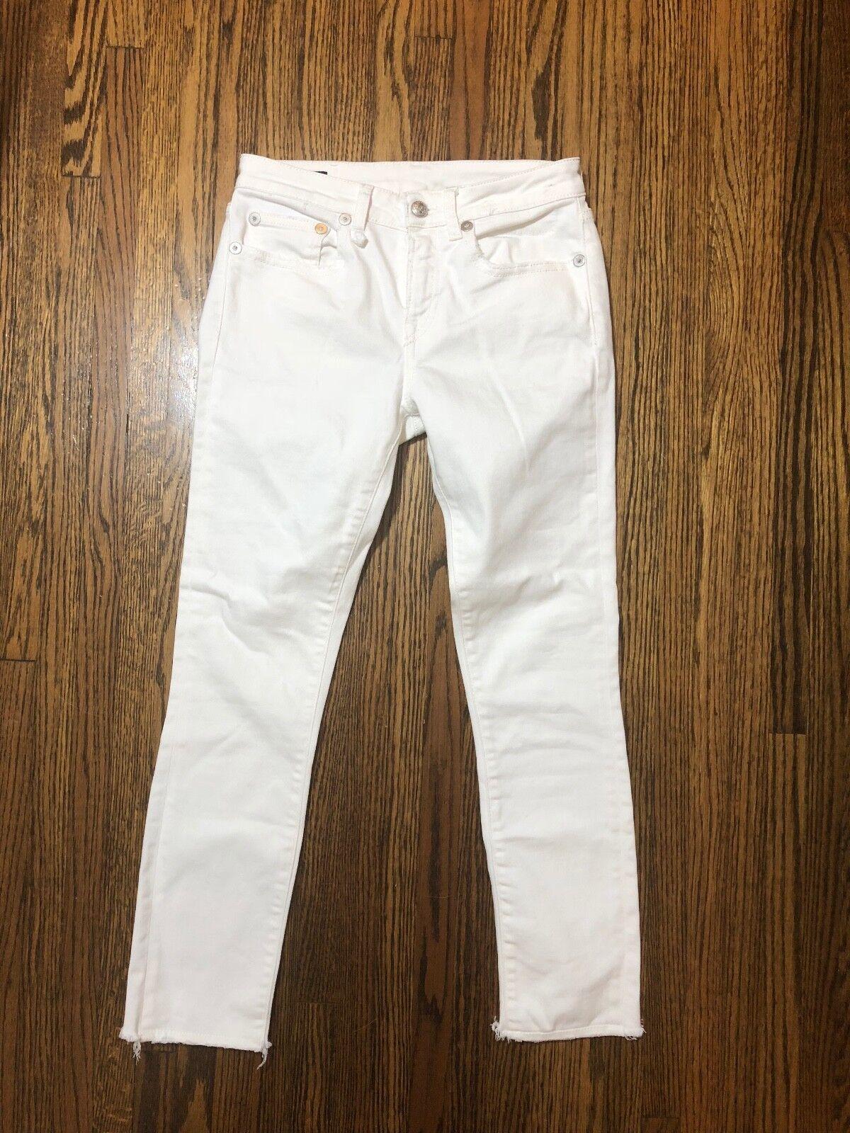 R13 Alison Crop in Garret White Size 26  325