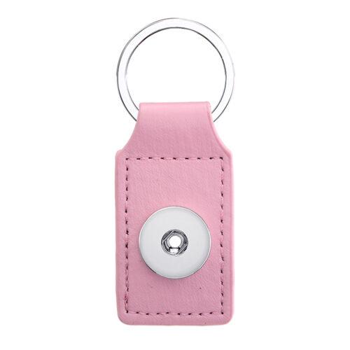 2017 clés 1pcs Chaîne Pour 18 mm Noosa Bouton Snap Charm carré rose