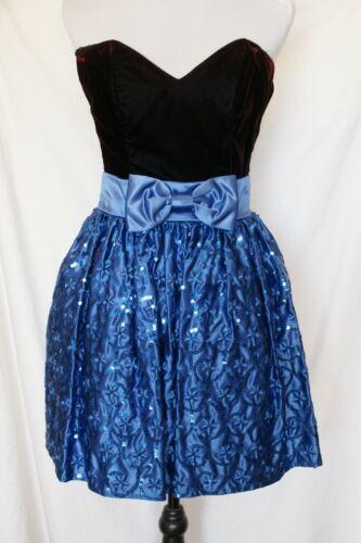 Jessica McClintock Gunne Sax Burgundy Velvet Blue