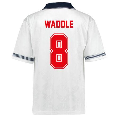 England Retro Football Shirt 1990 Mens Home /& Away Kit with Player Name Printing