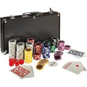 Pokerkoffer-Pokerset-Poker-300-Chips-Set-Laser-Alu-Koffer-Jetons-BLACK-EDITION