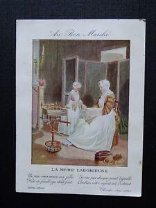Card-Chromo-Advertising-To-Good-Market-La-Mother-Christmas-Laborious