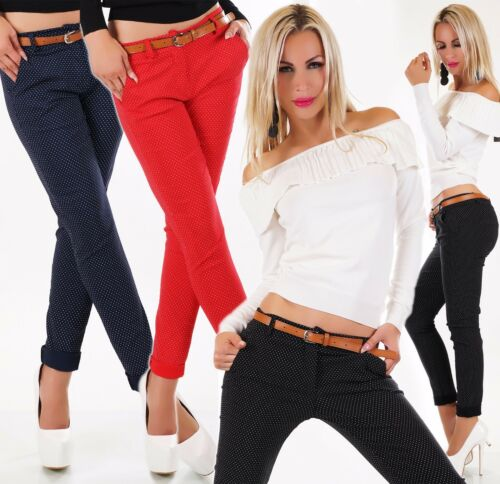 Italie Points pour 38 44 femmes Ceinture 40 Business Pantalons 36 Pantalon 42 Chino Stretch AxAwEqf0r