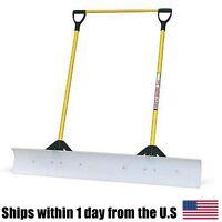 The Snow Plow 48 Snow Shovel With Double Fiberglass Handle 50549 on Sale