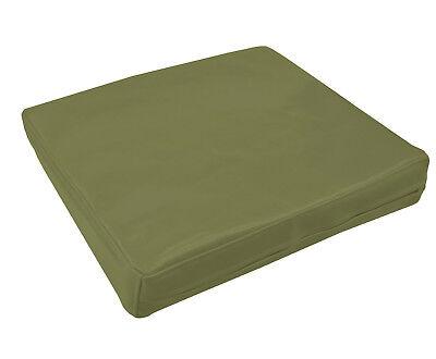 pe249t Deep Blue Faux Leather Classic Pattern 3D Box Cushion Cover Custom Size