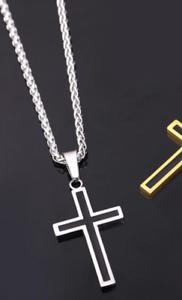 U7 Plata Cruz Colgante Collar de Moda Cristiana Latino-Joyería-Reino Unido Vendedor