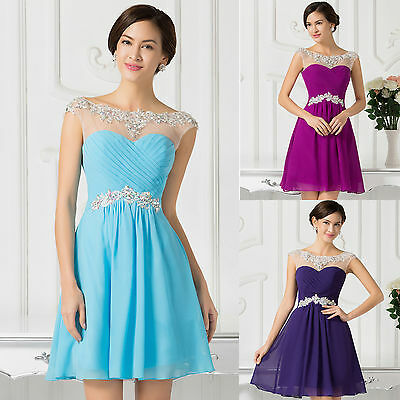 Clearance~~ Short Chiffon Bridesmaid Summer Dress Evening Formal Party Ball Prom