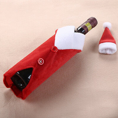 New Wine Bottle Cover Xmas Santa Decor Wine Bottle Set Christmas Bottle Cap