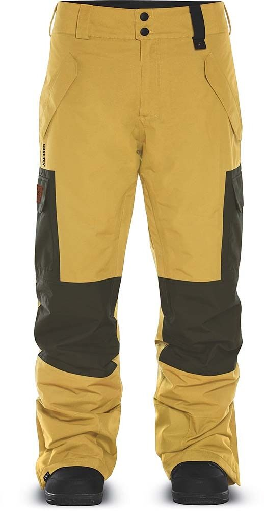 DAKINE Men's WOODLAND FULL CARGO Gore-Tex Snow Pants - Curry Jugl - XL - NWT