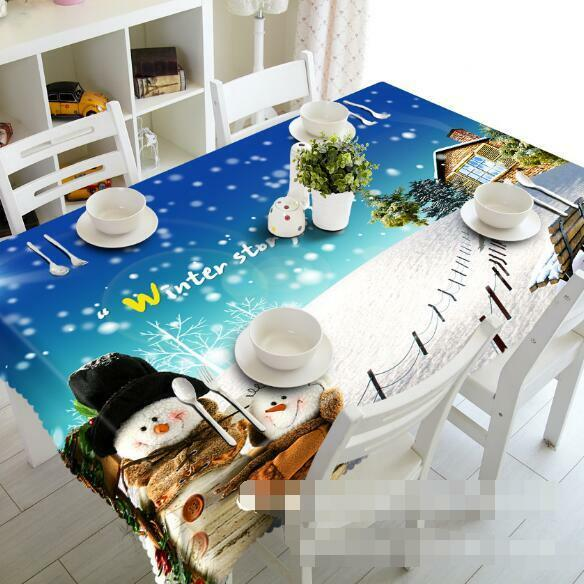 3D Snow Winter 31 Tablecloth Table Cover Cloth Birthday Party Event AJ WALLPAPER