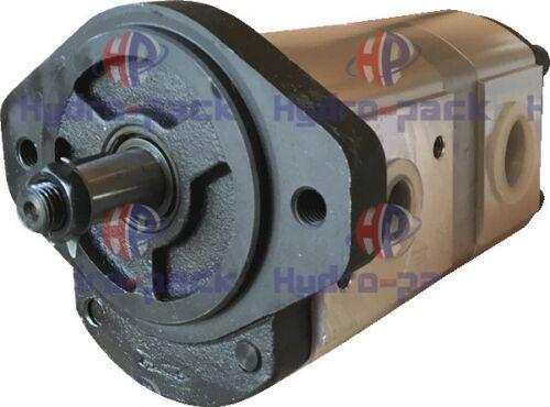 Hydraulikpumpe Zahnradpumpe Tandempump 20+12 cm linkssdrehend John Deere RE68886