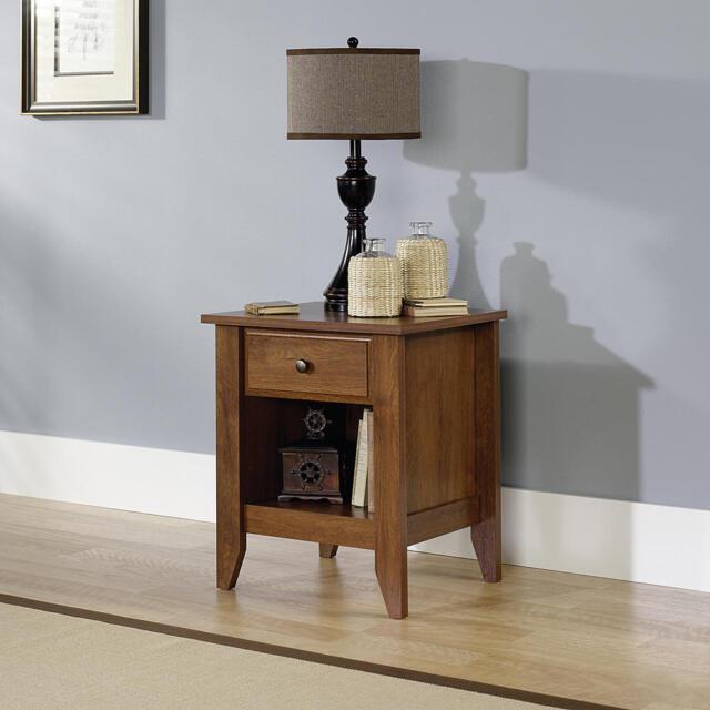 Oak Night Stand Bedroom Nightstand Bedside End Table Shelf Drawer Storage
