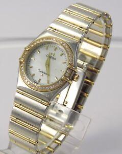 Omega Constellation Damen Uhr Stahl Gold Diamant Ebay