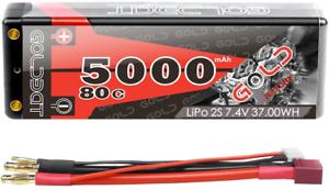 GOLDBAT-5000-mAh-7-4-V-80-C-2-S-Lipo-Battery-Hard-Case-avec-Dean-Style-T-connecteur-1