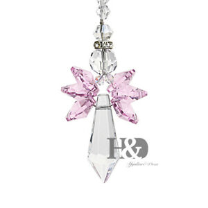 Pink-Crystal-Guardian-Angel-Chakra-Suncatcher-Car-Charm-for-Rear-View-Mirror
