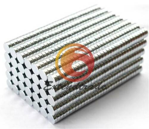 50pcs 6X2mm N50 Small Fridge Magnets Neodymium Disc Super Strong Rare Earth