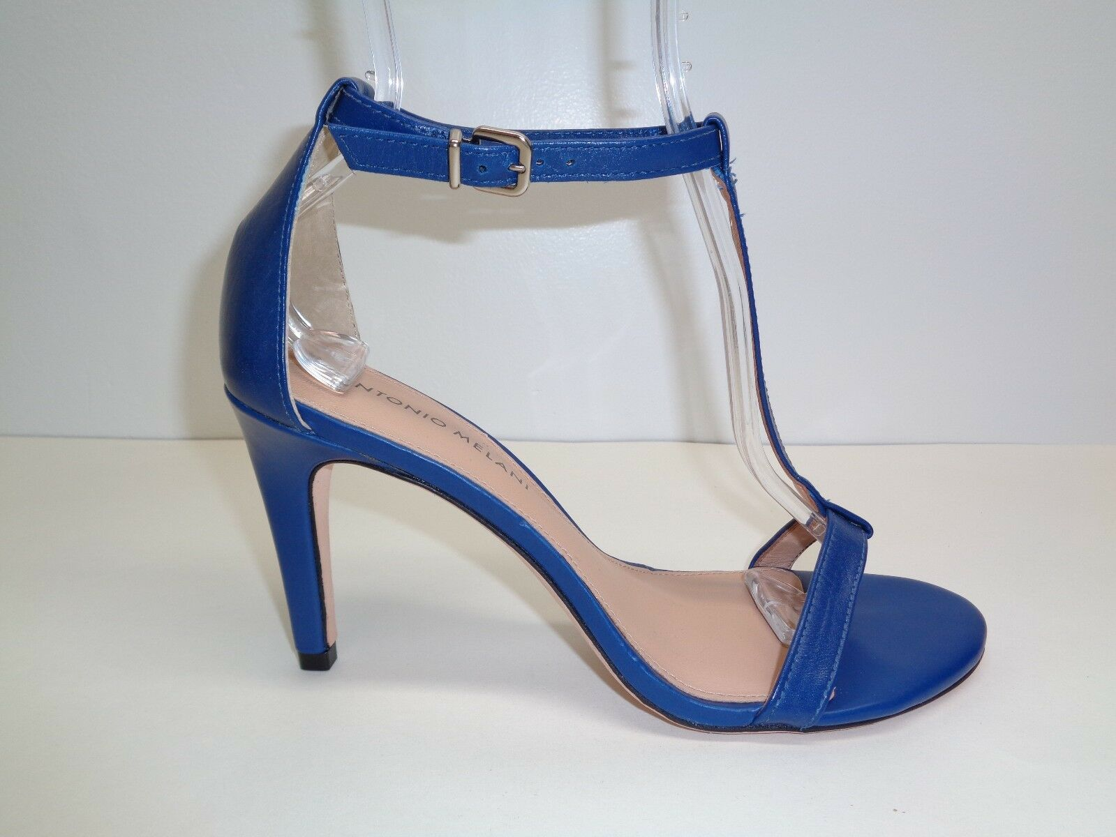 Antonio Melani Size 8 M AUDREY Blue Pelle T-Strap Sandals New Donna Shoes