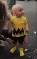 Cartoon Charlie Brown Yellow Black Zig Zag Toddler Infant Tee Shirt