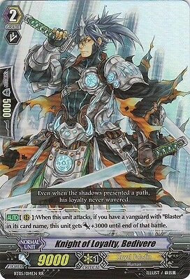 1x Cardfight!! Vanguard Knight of Loyalty, Bedivere - BT05/014EN - RR Near Mint