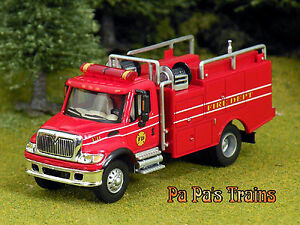Diecast-Brush-Land-Management-Fire-Truck-HO-1-87-by-Boley