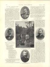 1897 GUERRA brigata in azione fuori Benin CAPITANO MP O'Callaghan CAPITANO Byrne