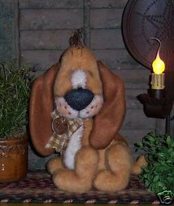 Primitive Raggedy Hound Puppy Dog Doll Paper Pattern #558