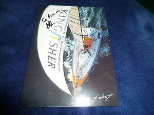 ELLEN MACARTHUR signed Original Autogramm 10x15 cm SEGELN Weltrekord Kingfisher