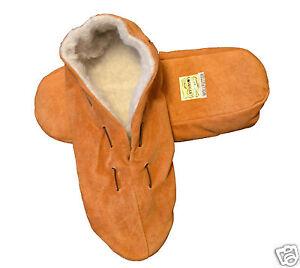 Neu-Echt-Leder-Hausschuhe-Mokassins-Puschen-Pantoffeln-21-bis-48-Huettenschuhe