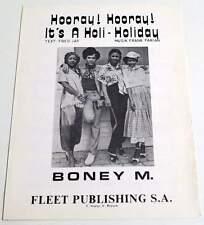 Partition vintage sheet music BONEY M. : Hooray Hooray * 70's Belge / Belgian