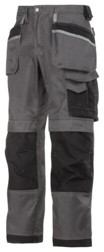 Snickers 3212 Craftsmen Holster Work Trousers DuraTwill FREE KNEE PADS OCEAN
