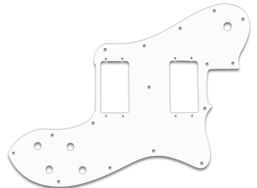 Telecaster ® Deluxe US + Mexico 72' Reissue bianca PG F. Fender ® 3ply WBW battipenna