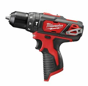 New Milwaukee 2408 20 M12 12 Volt Cordless Hammer Drill Driver Tool
