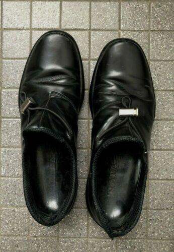 1990s? PRADA Italian Toggle Men's Black Leather Mo