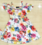 Kids Girls Princess Skater Summer Party Floral Print Dress Size 7-13 Years New