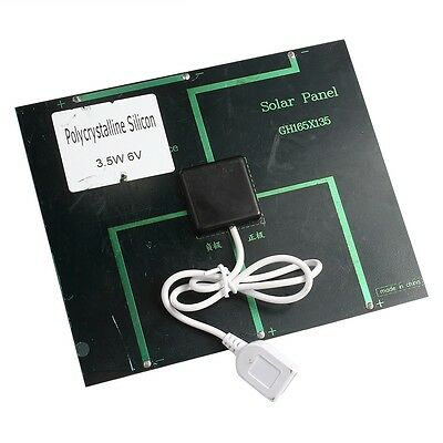 Portable 6v 3.5w 580-600MA Solar Panel USB Travel Battery Charger For Cell Phone