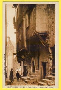 cpa-06-PUGET-THENIERS-Alpes-Maritimes-MAISON-Xe-siecle-Vieux-QUARTIER-animee