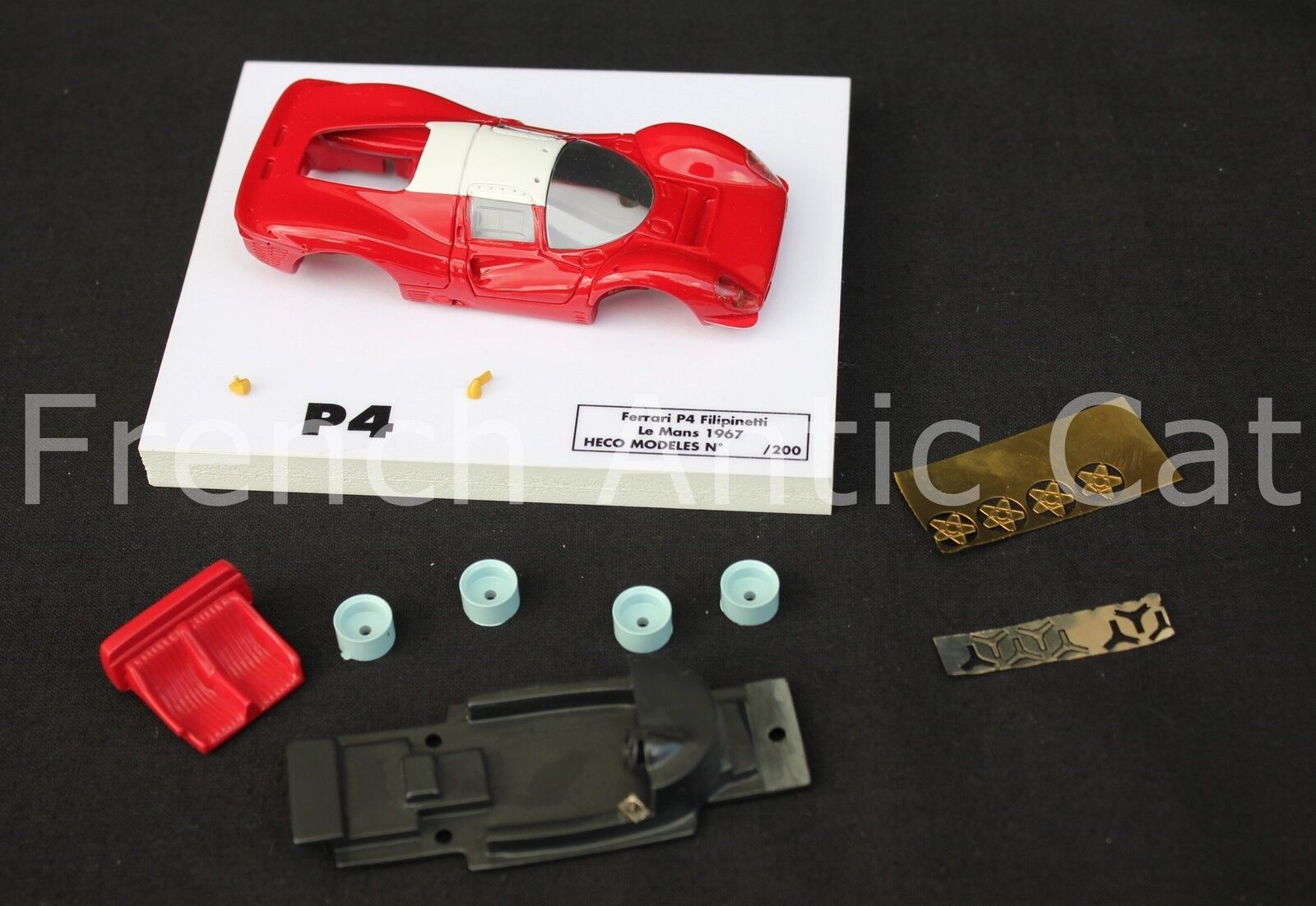 Ot '' Car Ferrari P4 le Mans Filipinetti 1967 Red 1 43 Heco Models 200 Ex