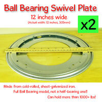2 Pcs - 12 Inch (305mm) - Full Ball Bearing Swivel Plate Lazy Susan Turntable