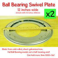 2 Pcs - 12 Inch (305mm) - Full Ball Bearing Swivel Plate Lazy Susan Turntable