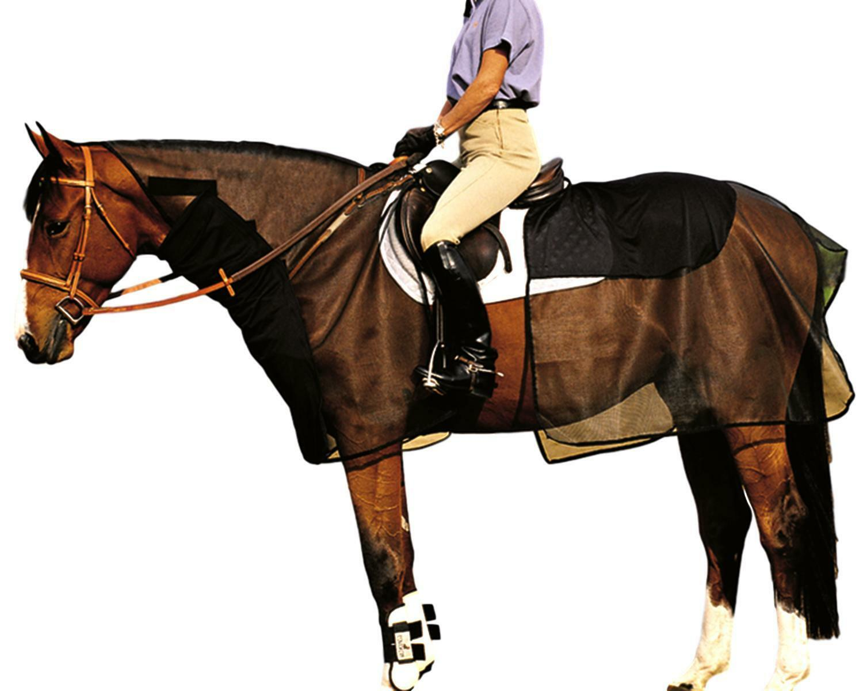 Cashel Quiet Ride Bug Armor 2 Piece Riding Fly Sheet Set Bridle and Saddle