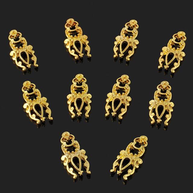 Charm 10pcs 3D Hollow Nail Art Alloy Tips Decoration Jewelry Glitter Rhinestone