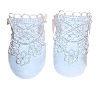 Baby Boys All White Tuxedo Crib Shoe 5 Preemie and Newborn Sizes up to 6 Months
