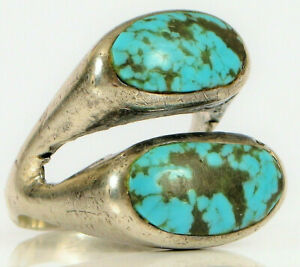 Sterling Silver Double Turquoise Ring